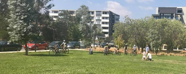 Image of people playing in park