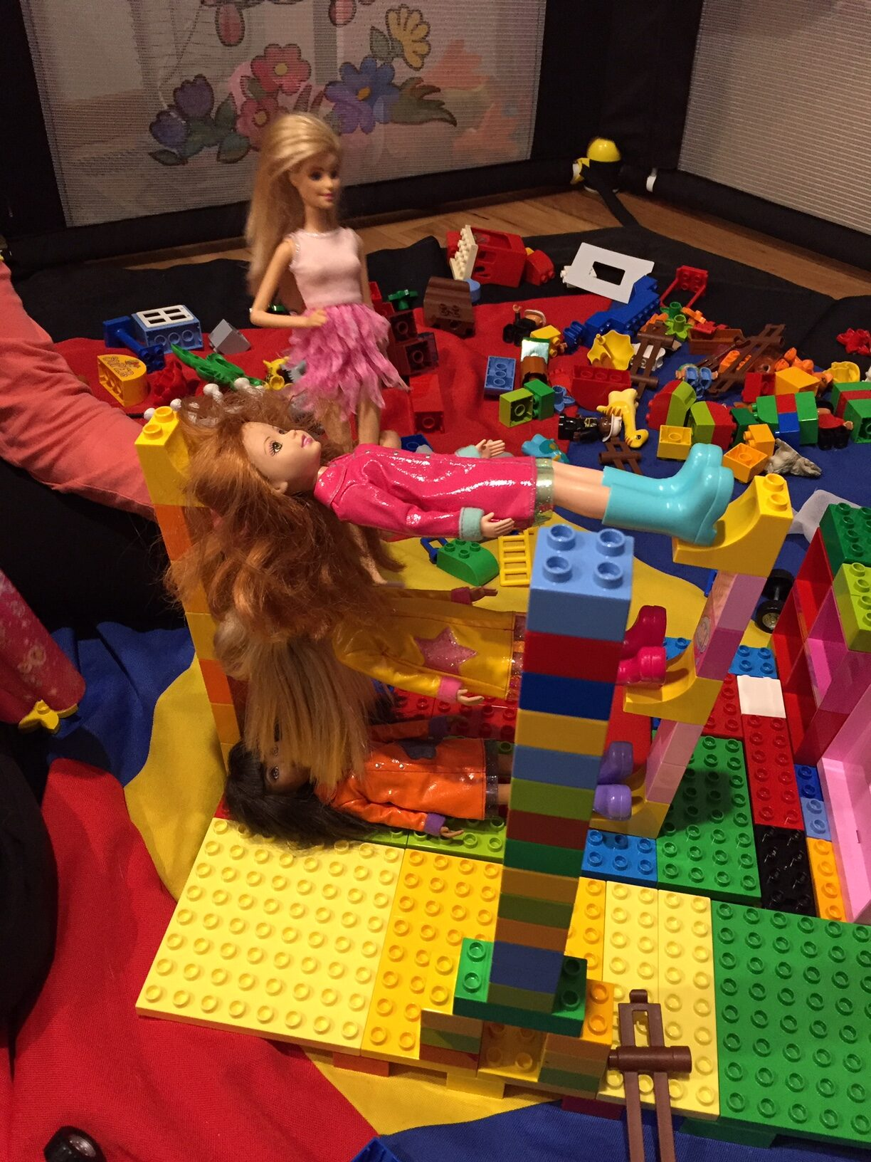 Celebrating life and the ability to build a triple decker dolls bed.